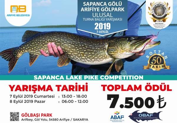Balık tutkunları Arifiye Gölpark'ta buluşuyor