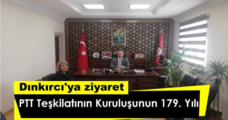 PTT Teşkilatının Kuruluşunun 179. Yılı Dolayısıyla Arifiye PTT Müdürlüğünden Kaymakamımıza Ziyaret.