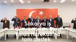 Sakarya iş dünyasından Barış Pınarı Harekatı'na tam destek