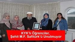 KYK'lı Öğrenciler, Şehit M.F. Safitürk'ü Unutmuyor