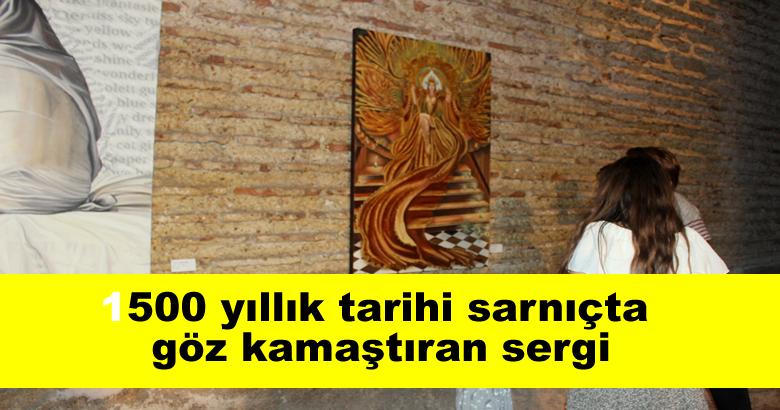 1500 yıllık tarihi sarnıçta göz kamaştıran sergi