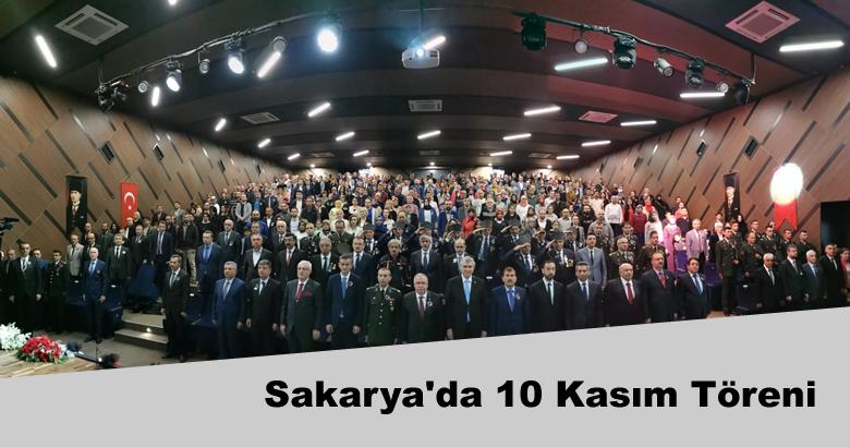 Sakarya'da 10 Kasım Töreni