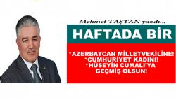 AZERBAYCAN MİLLETVEKİLİNE!