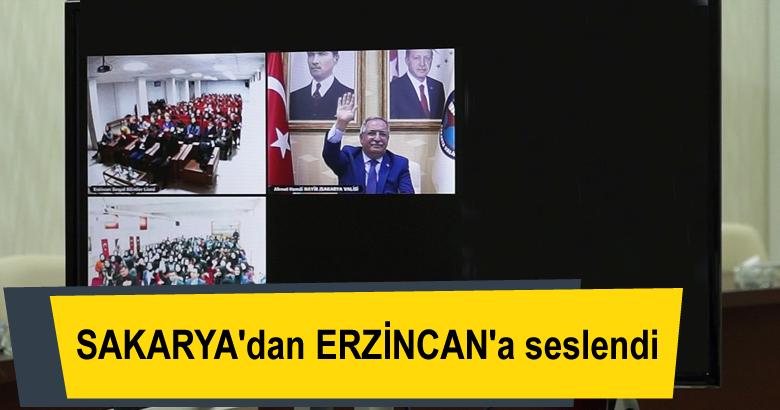 Vali Nayir Telekonferans Sistemiyle Erzincanlı Öğrencilere Seslendi