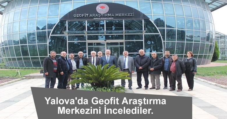 Yalova'da Geofit Araştırma Merkezini İncelediler.