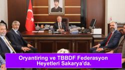 Oryantiring ve TBBDF Federasyon Heyetleri Sakarya'da.