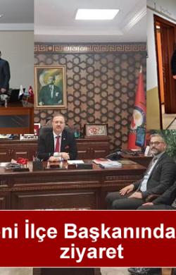 MHP'nin Yeni İlçe Başkanından kurumlara ziyaret