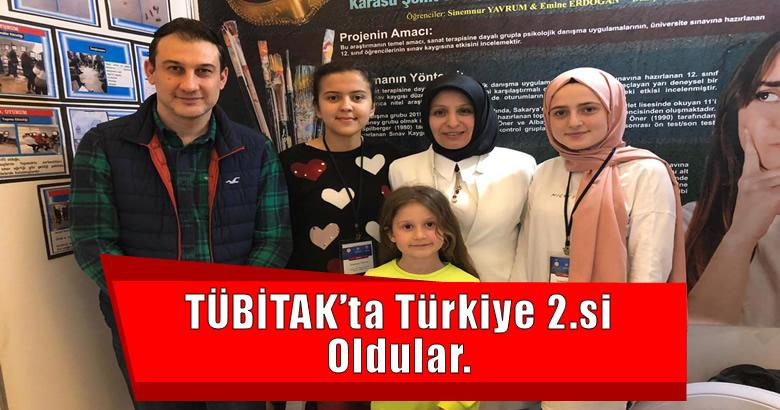 TÜBİTAK'ta Türkiye 2.si Oldular.