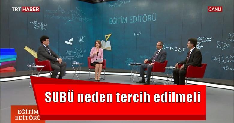 Rektör Sarıbıyık TRT Haber'de anlattı.