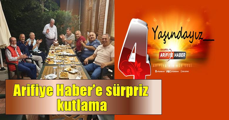 Arifiye Haber'e sürpriz kutlama