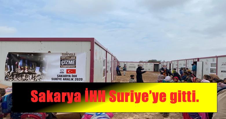 Sakarya İHH Suriye'ye gitti.