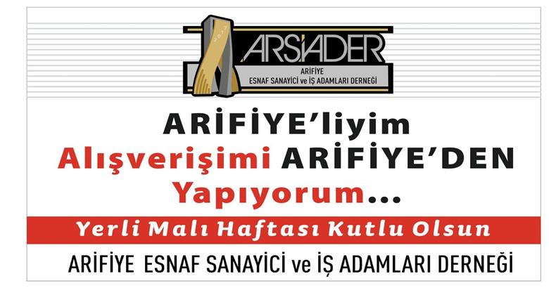 ARSİADER'DEN YERLİ MALI HAFTASI MESAJI