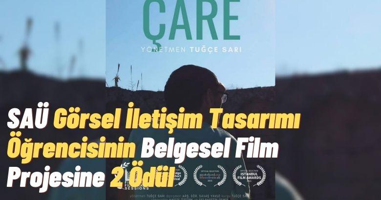 SAÜ Görsel İletişim Tasarımı Öğrencisinin Belgesel Film Projesine 2 Ödül