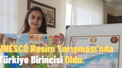 UNESCO Resim Yarışması'nda Türkiye Birincisi Oldu.