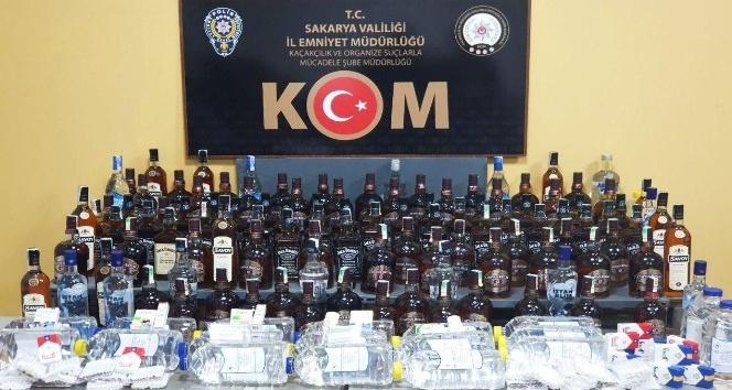 109 şişe gümrük kaçağı alkol ele geçirildi