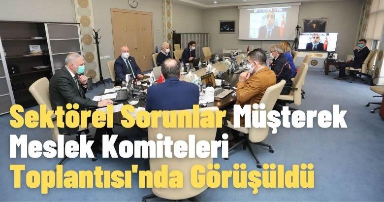 Sektörel Sorunlar Müşterek Meslek Komiteleri Toplantısı'nda Görüşüldü