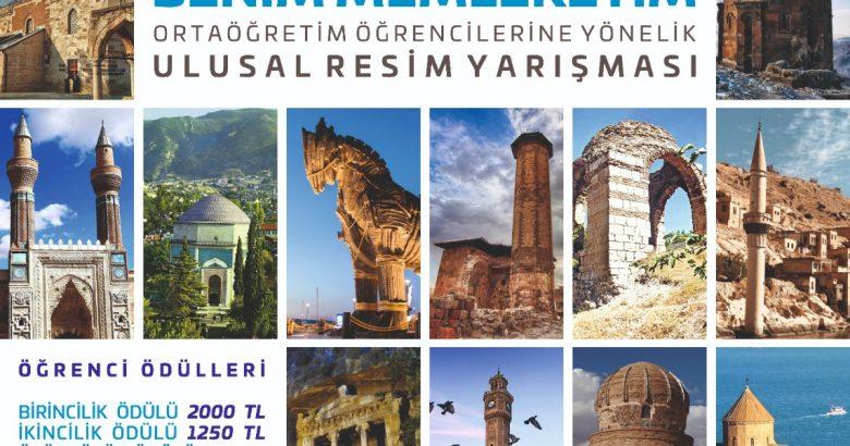 """""""BİR BAŞKADIR BENİM MEMLKETİM"""" ADLI ULUSAL RESİM YARIŞMASI"""