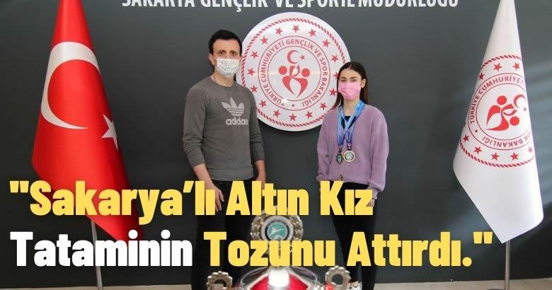 Sakarya'lı Altın Kız Tataminin Tozunu Attırdı.