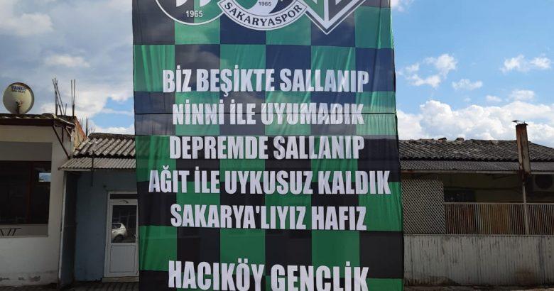 Hacıköy Gençlikten Sakaryaspor'a destek