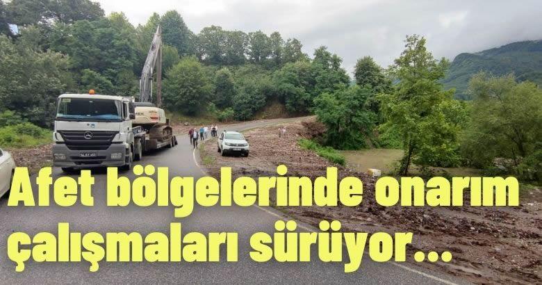 Sakarya Büyükşehir Belediyesi afet bölgelerinde