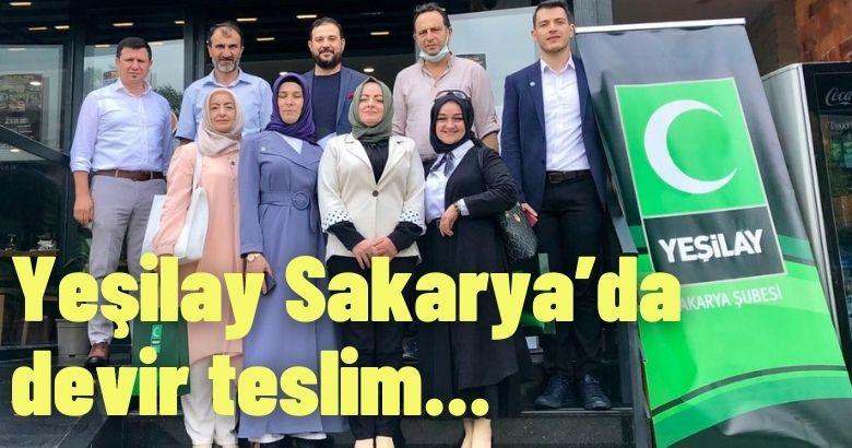 Yeşilay Sakarya'da devir teslim