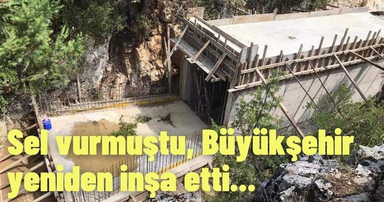 Sel vurmuştu, Büyükşehir yeniden inşa etti