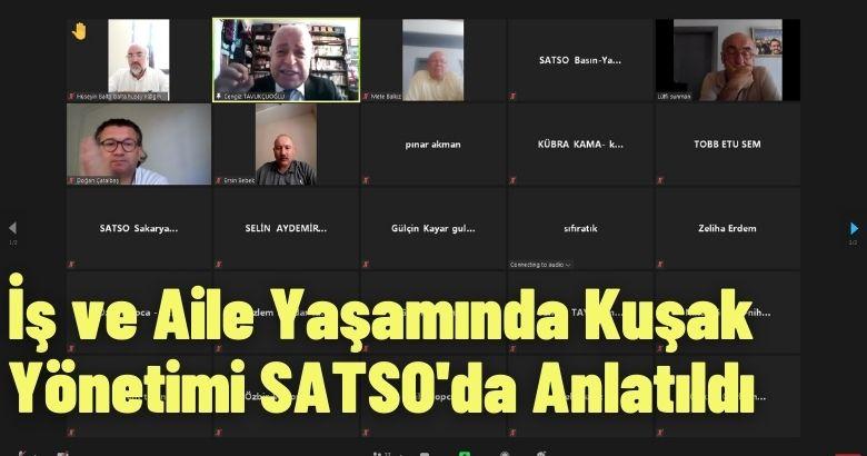İş ve Aile Yaşamında Kuşak Yönetimi SATSO'da Anlatıldı