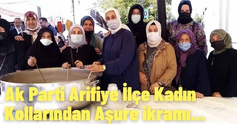 Ak Parti Arifiye İlçe Kadın Kollarından Aşure ikramı