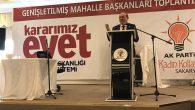 Burhan Kuzu Genişletilmiş mahalle başkanları toplantısında konuştu