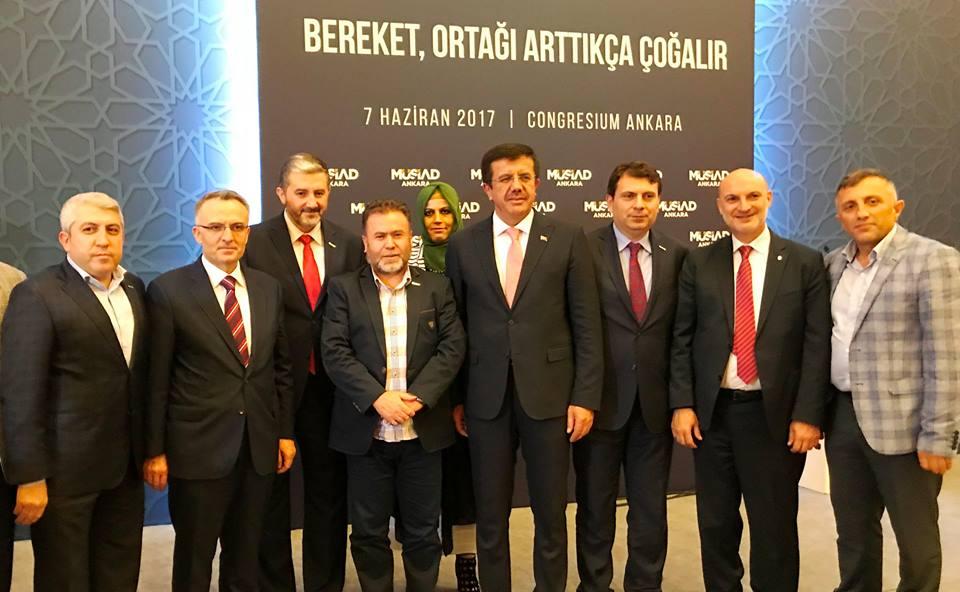 Coşkun; Ankara'da MÜSİAD Başkanlar Toplantısı'na katıldı