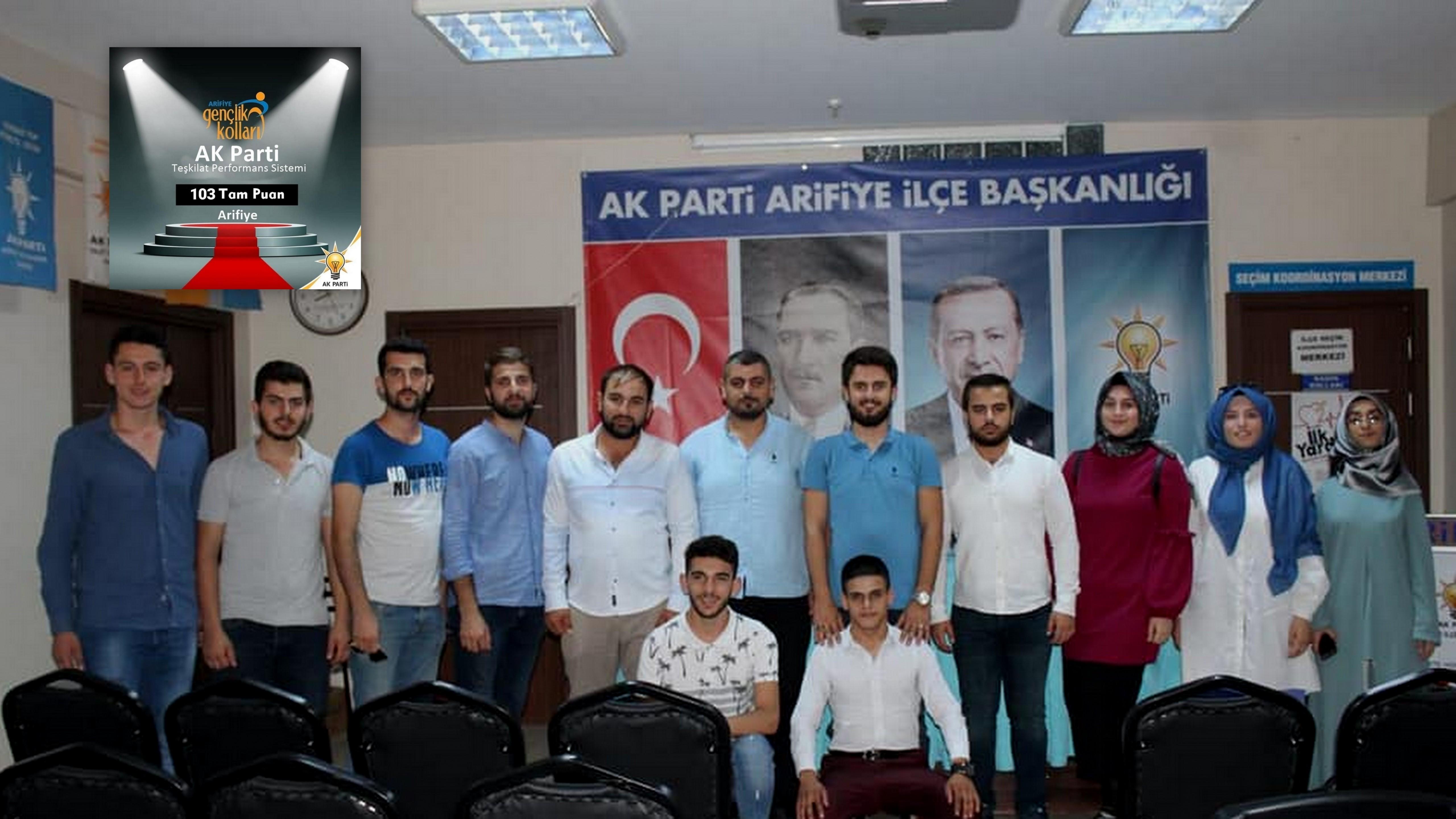 AK Parti Arifiye Gençlik Kolları 103 Tam Puan aldı.