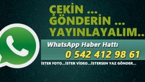 WhatsApp haber hattımıza,Siz gönderin, biz yayınlayalım.