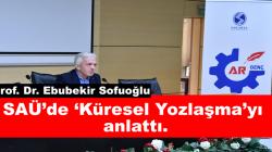 Sakarya Üniversitesi AR GENÇ Topluluğu tarafından 'Küresel Yozlaşma' adlı bir konferans düzenlendi.