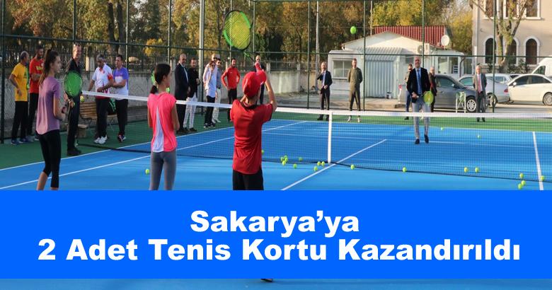 Sakarya'ya 2 Adet Tenis Kortu Kazandırıldı
