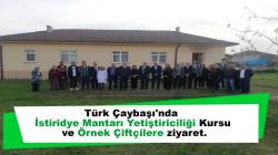 Türk Çaybaşı'nda İstiridye Mantarı Yetiştiriciliği Kursu ve Örnek Çiftçilere ziyaret.