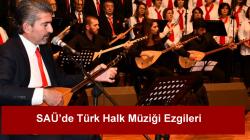 SAÜ'de Türk Halk Müziği Konseri düzenlendi.
