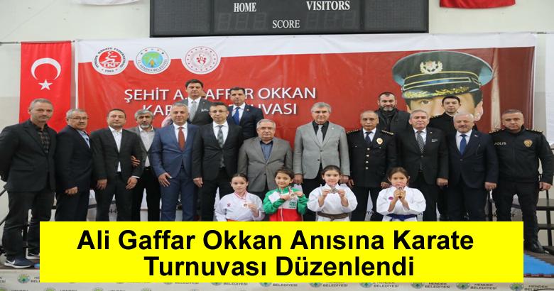 Ali Gaffar Okkan Anısına Karate Turnuvası Düzenlendi