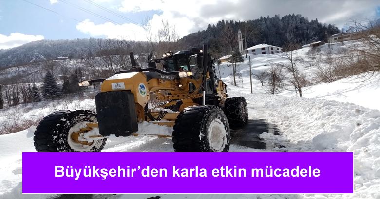 16 ilçede karla mücadele çalışmalarına devam.
