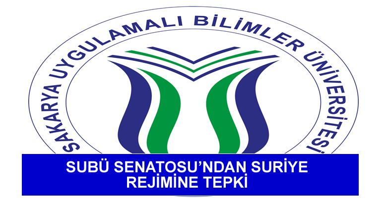 SUBÜ SENATOSU'NDAN SURİYE REJİMİNE TEPKİ