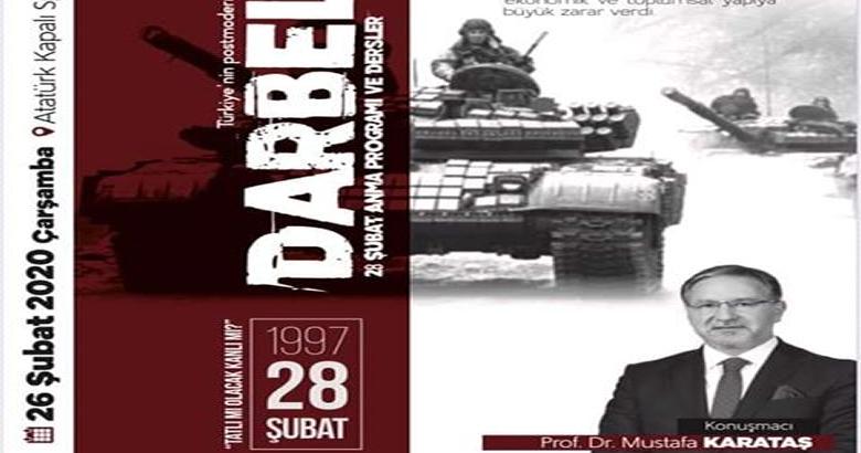 15 Temmuz Milli İrade  Derneğinden 'Darbeler'  programı