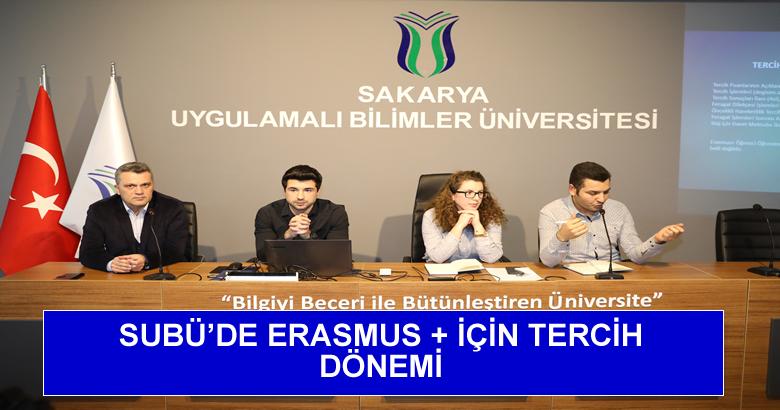 SUBÜ'DE ERASMUS + İÇİN TERCİH DÖNEMİ