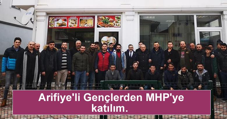 Arifiye'li Gençlerden MHP'ye katılım.