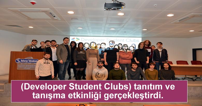 (Developer Student Clubs) tanıtım ve tanışma etkinliği gerçekleştirdi.