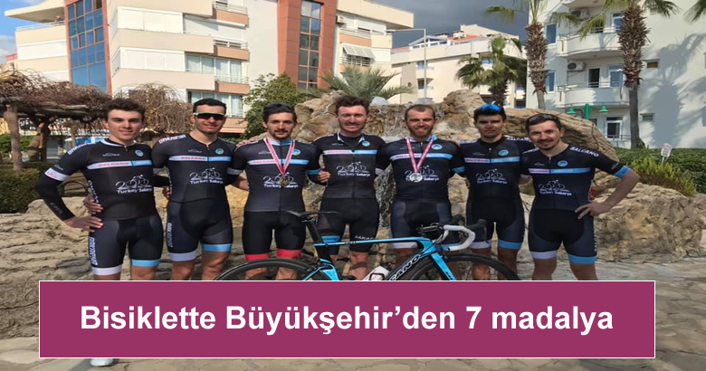 Bisiklette Büyükşehir'den 7 madalya