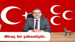 MHP Arifiye İlçe Başkanı Ferid Şekerli'den Miraç kandili mesajı