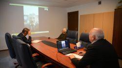 Bayraktar, Telekonferans yöntemiyle toplantı yaptı