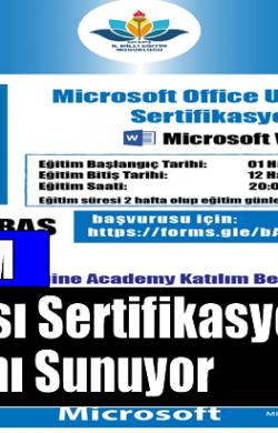 Sakarya MEM Microsoft Imagine Academy Eğitimleri ile Uluslararası Sertifikasyon İmkânı Sunuyor.
