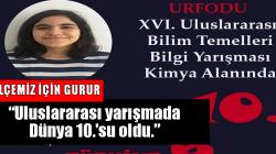 'Arifiye Necmettin Erbakan Fen Lisesi öğrencisi Melek Nisa AYDOĞAN, Uluslararası yarışmada Dünya 10.'su oldu.'