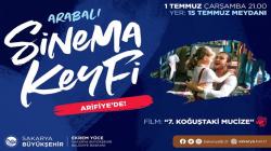 Arabalı sinema etkinliği bu akşam Arifiye'de