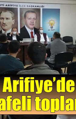 AK Parti Arifiye'de sosyal mesafeli toplantı